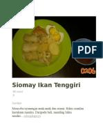 Siomay Ikan Tenggiri