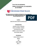 Informe Del Proyecto - Influencia de Un Sistema Informático en La Gestión De Registros( Área de Admisión Del C.S. Ermitaño Alto)