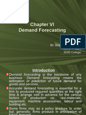 Demand Forecasting | Time Series | Econometrics