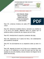 PRACTICA PONCHADO CABLE UTP