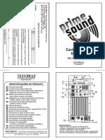 Certificado de garantia da caixa ativa PS-12AT