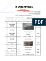 Price List 2016-17