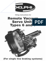 Delphi Remote Vacuum Servo Unit Types 6-7