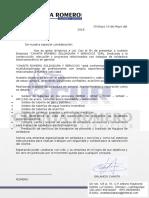 Carta de Presentacion Chanta Soldadura