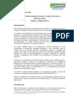 SEÑALIZACIÓN Especificaciones Tecnicas PERU
