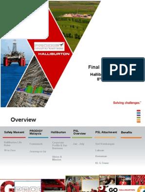 Halliburton Final Presentation pptx | Halliburton | Technology