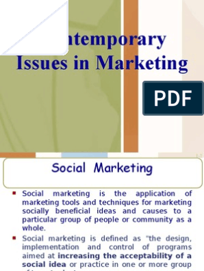 Contemporary Issues in Marketing | Marketing | E Commerce