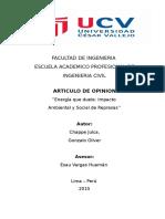 Articulo de Opinion - Chappe Julca Gonzalo