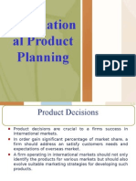 International Product Planning