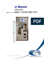 9240 Sodium Analyzer Operator Manual