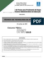 Técnico de TI UFMS 2015