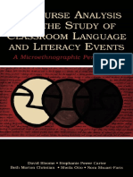 Discourse Analysis and the Study of Classroom Language - 2005
