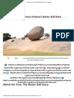 Mysterious Krishna's Butter Ball Rock _ Tourism Infopedia