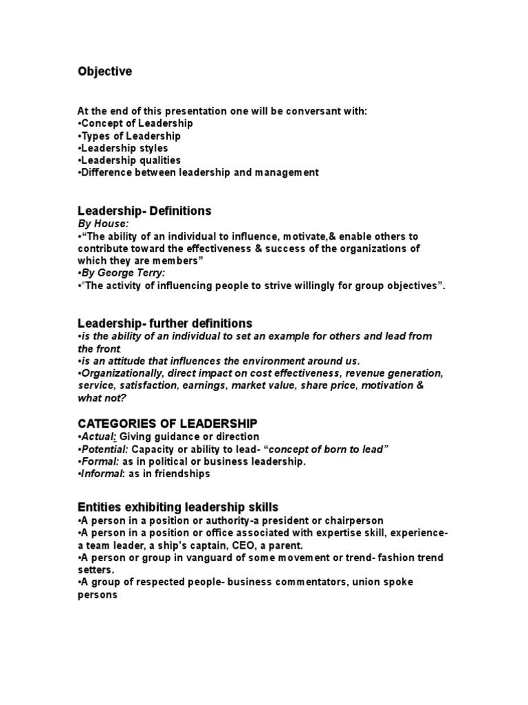 Objective leadership | Leadership | Leadership & Mentoring