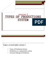 Session 2 Types of Production System
