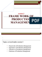 Session 3 Framework of Production Management