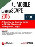 EMarketer Global Mobile Landscape 2015