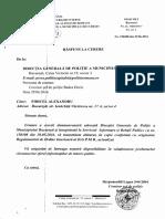 Regulamentul de ordine interioara al DGPMB nepublicat