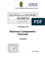 EE049 Electronic Components Exercises Pr Inst