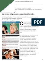 Un mismo origen, con propuestas diferentes (02/03/2003)