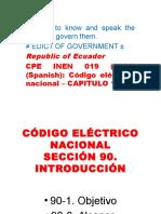 Codigo Eléctrico Nacional Ecuatoriano 1