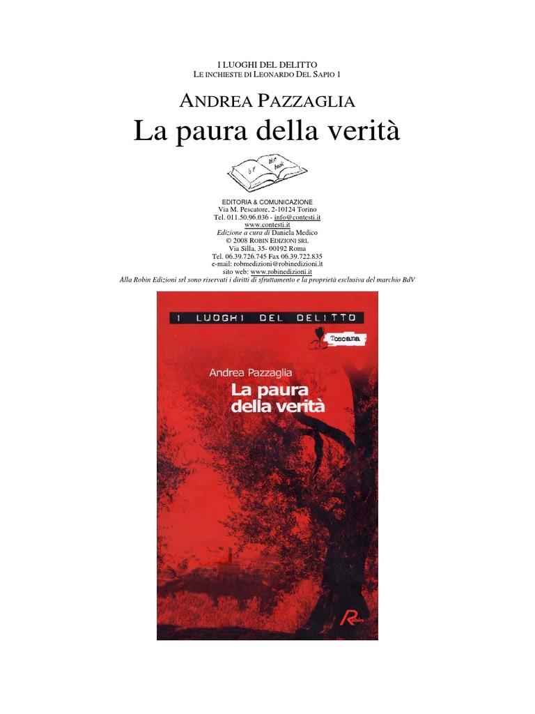 Andrea Pazzaglia - La Paura Della Verità (Ita Libro) a4babcd58f8