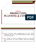 Session 6 & 7 Production Planning & Control