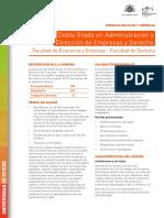 Doble Grado en Administración y Dirección de Empresas y Derecho 2015