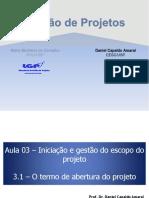 GP - Termo de Abertura Do Projeto