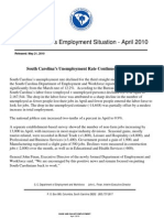 South Carolina employment trends, April 2010