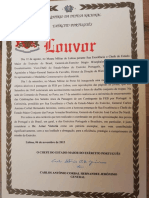 Artur Victoria Recebe Louvor do Exército Português