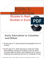 RIZAL'S+EDUCATION