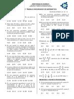 Trabajo de Razones, Proporciones, Reparto, Regla de Tres y Porcentaje