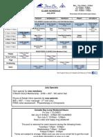 July-2016 Class Schedule