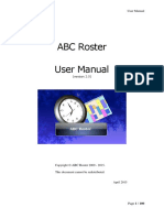 Abcroster 2.0 Manual