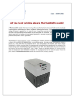 All you need to know about a Thermoelectric cooler