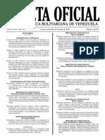 Gaceta Oficial Número 40.934 de la República de Venezuela, 29 de junio de 2016