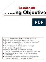 Session 20 Pricing (Objectives of Pricing)