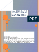 Introduction of Material Management