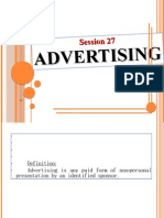 Session 27 Advertising