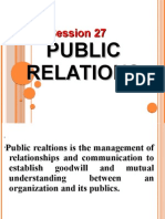 Session 27 Publicity