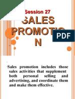 Session 27 Sales Promotion