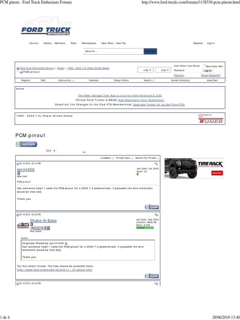 PCM Pinout - Ford Truck Enthusiasts Forums | Internet Forum ... on 2000 dodge cummins pcm, 2000 ford taurus pcm, 2000 f-250 pcm,