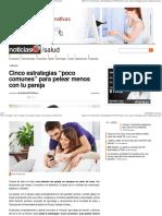 """Cinco Estrategias """"Poco Comunes"""" Para Pelear Menos Con Tu Pareja en Noticias24"""