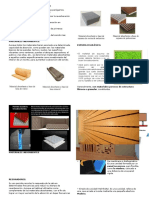 Materiales Acondicionamiento Acústico.