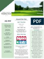 SFCC July 2016 Newsletter - Single Page