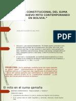 Axiología Constitucional Del Suma Qamaña