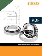 Timken Metric Tapered Roller Bearing Catalog