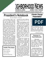 EBCA June/July 2008 Newsletter