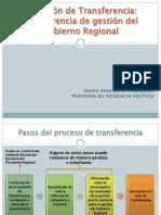 Transferencia Gestion GR Cusco